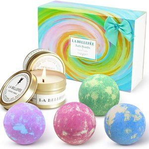 NWT La Bellefee Bath Bombs and Scented Candles